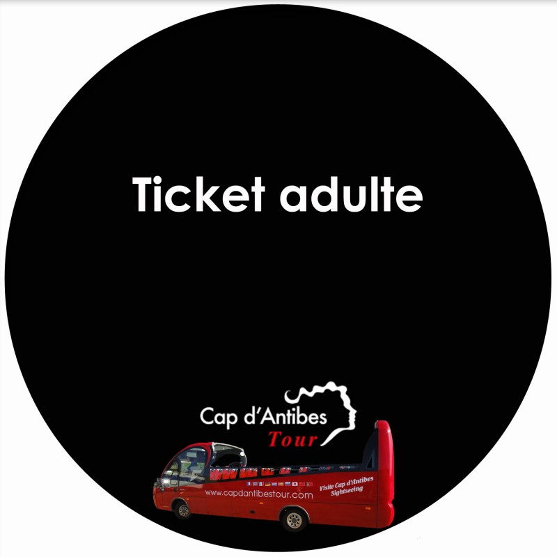 ticket adulte cap d 39 antibes tour. Black Bedroom Furniture Sets. Home Design Ideas