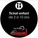 Ticket Enfant Cap Antibes Tour